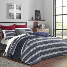 Blue & White Striped Craver Cotton Comforter Set