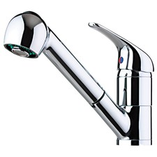 Blikk Sink Mixer with Vege Spray in Chrome