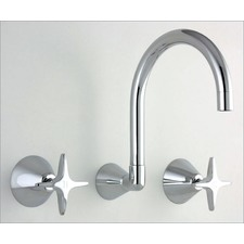 Vision Wall Sink / Spa Set in Polished Chrome