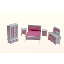 5 Piece Bedroom Furniture Set in Pink