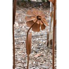 Rusty Lychnis Stake Garden Ornament