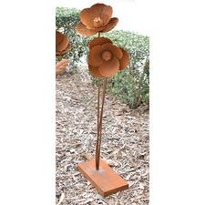 Rusty Metal Poppy Ornament