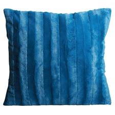Teal Channel Plush Cushion