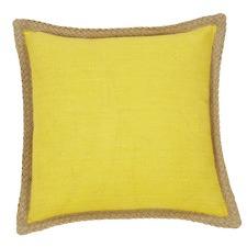 Mornington Yellow Linen Cushion