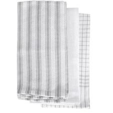Grey Gardenia 3 Pack Tea Towels