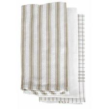 Taupe Gardenia 3 Pack Tea Towels