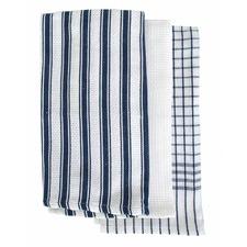 Navy Gardenia 3 Pack Tea Towels