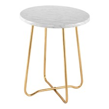 Gold Marble Jessica Side Table