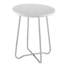 Silver Marble Matisse Side Table