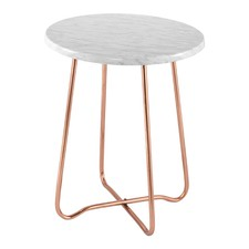 Copper Marble Jessica Side Table