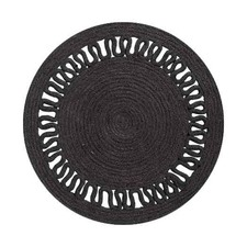 Evelyn Black Jute Placemat (Set of 6)