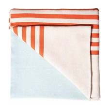 Gemma Burnt Orange & Glacier Boxed Throw