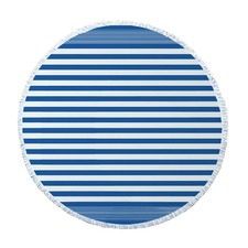 Santorini Blue Round Turkish Towel