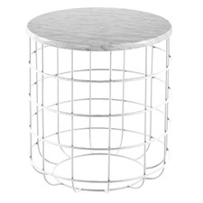 Oliver Matte Marble Wire Side Table