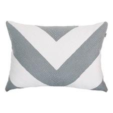 Grey Portsea Chevron Cushion