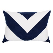 Navy Portsea Chevron Cushion