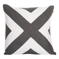 Portsea Charcoal Cross Cushion