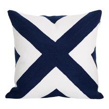 Portsea Navy Cross Cushion