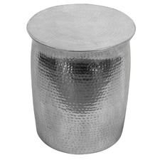 Zora Silver Drum Table