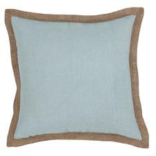 Hampton Illusion Blue Linen Cushion