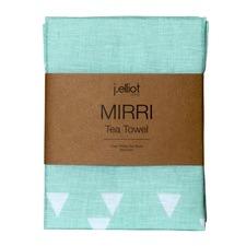 Mirri Geometric Printed Linen Teatowel (Set of 2)