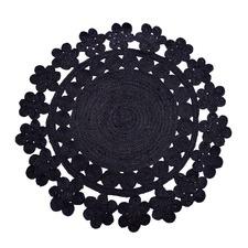 Black Ikram Jute Rug