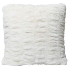 Quebec Ruched Faux Fur Cushion