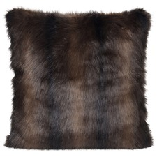 Dark Brown Sable Faux Fur Cushion