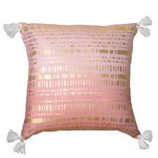 Pink & Gold Cypress Cotton Cushion