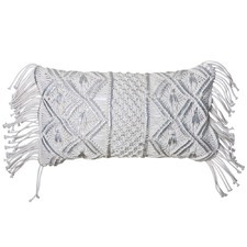 Ivory & Silver Bodhi Rectangular Cushion