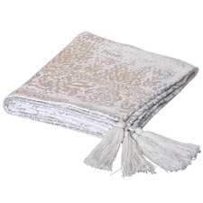 Silver Vanna Cotton Throw