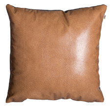 Blaise Faux Leather & Wool Cushion
