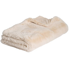 Natural Arlo Super Plush Faux Fur Throw