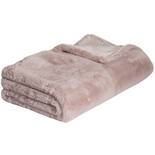 Blush Arlo Super Plush Faux Fur Throw