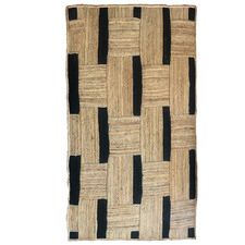 Natural & Black Maisy Jute-Blend Rug