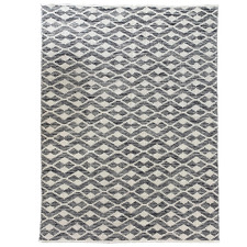 Natural & Black Harlow Woven Cotton Rug