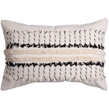 Black & Natural Vera Cotton Cushion