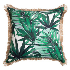 Green Borneo Cotton-Blend Cushion