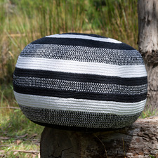 Monochrome Amalya Cotton Ottoman