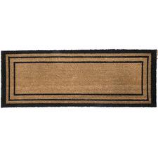 Rectangular Lines Printed Coir Ranchslider Doormat