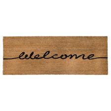 Welcome Printed Coir Ranchslider Doormat