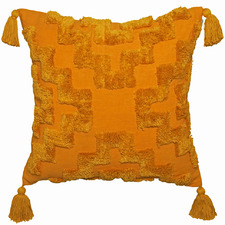 Mustard Fletcher Cotton Cushion