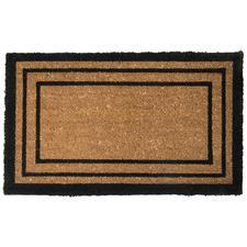 Rectangular Lines Printed Coir Doormat