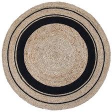 Black Harrison Cotton & Jute Round Rug