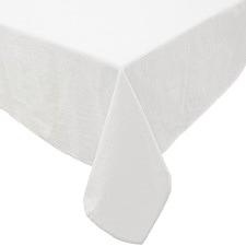 White Neva Cotton-Blend Tablecloth