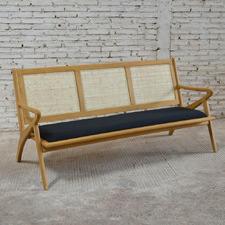 Natural Zadie 3 Seater Bench