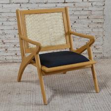Natural Zadie Cushioned Armchair