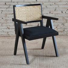 Black Sanderson Cushioned Armchair