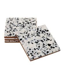 Ivory Kirrily 10cm Terrazzo Style Coasters (Set of 4)