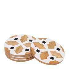 Alyvia 10cm Wooden Coasters (Set of 4)